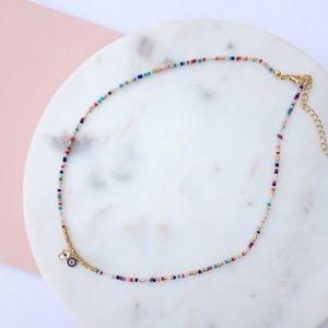 Rainbow Bright Beaded Necklace